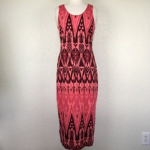 Tommy Bahama Pink Tropical Print Maxi Dress